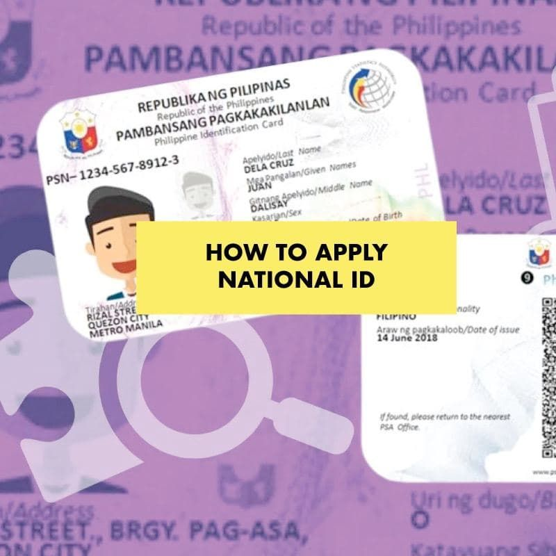apply for philippine national ID