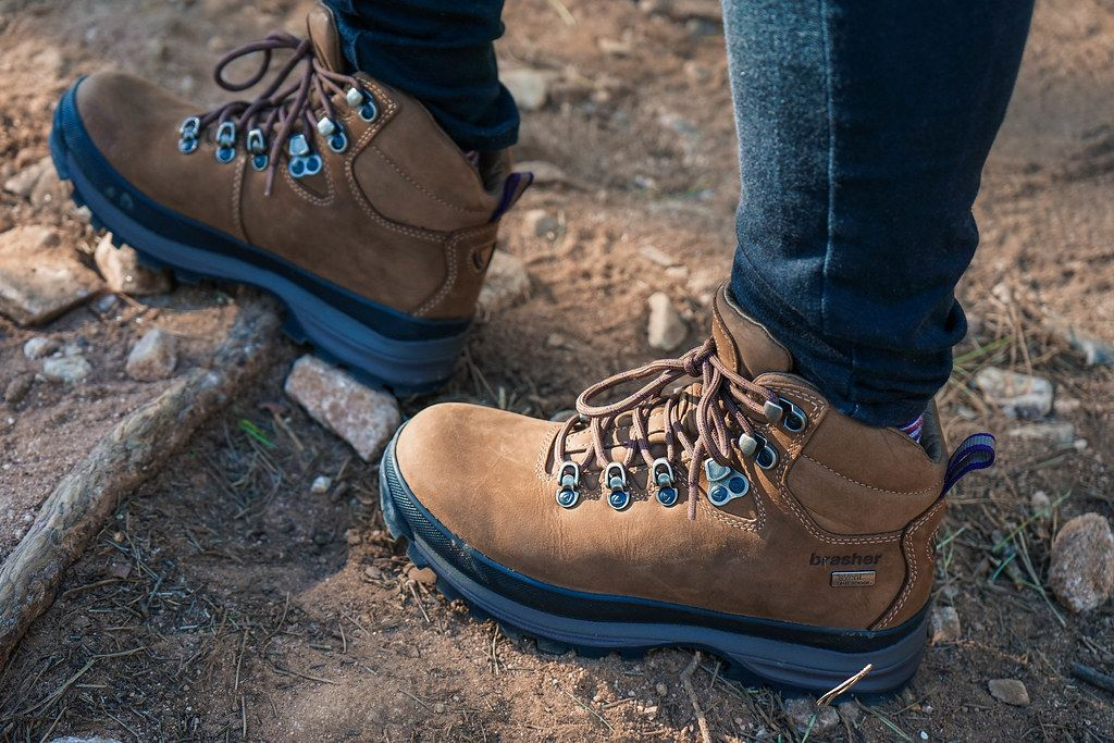 jacket and Brasher hiking boots