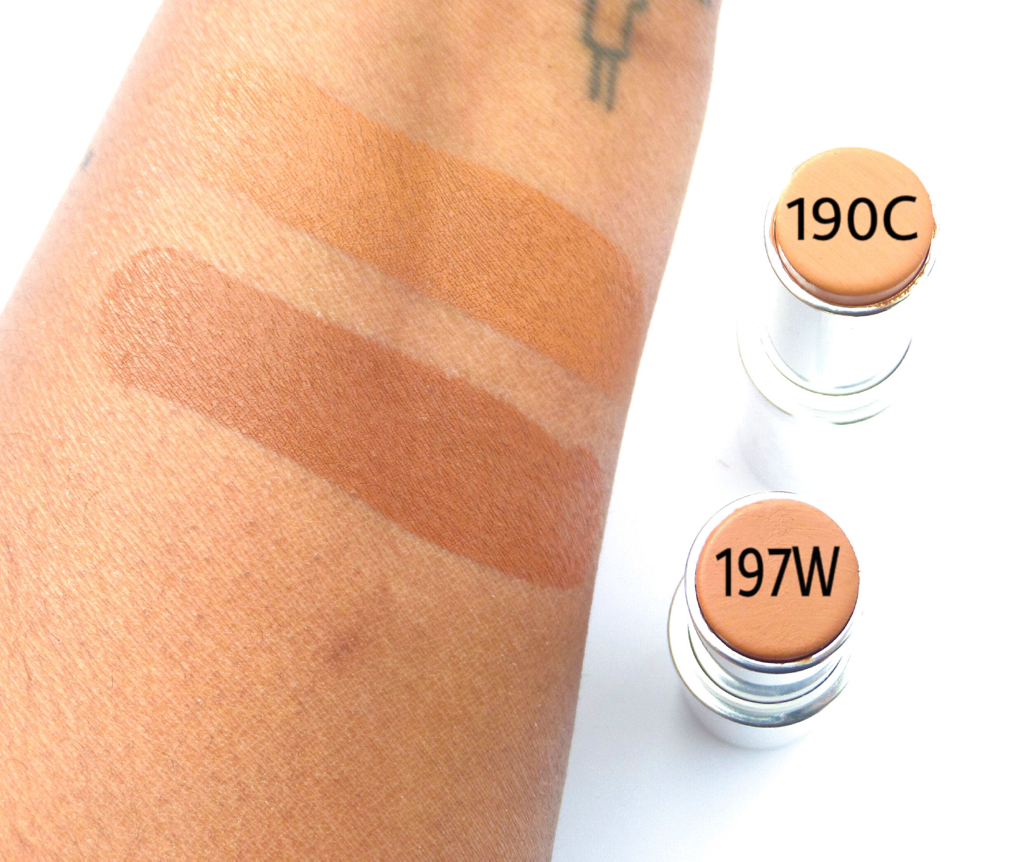 Colourpop No Filter Foundation Stix Swatches Review 190c And 197w